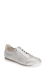 Agl Attilio Giusti Leombruni Leather Sneaker Women Silver Metallic
