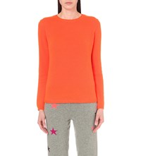 Chinti And Parker Patch Detail Cashmere Jumper Chinti Orange