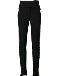 By. Bonnie Young Bell Detail Stripe Trousers Black