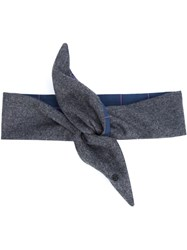 Maison Michel Knot Headband Grey
