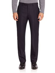 Giorgio Armani Textured Wool Trousers Sea Blue