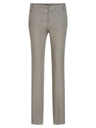Marc O'polo Niva Cloth Trousers In Pure Linen Grey