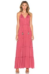 T Bags Losangeles V Neck Tassel Maxi Dress Mauve