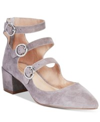 Charles By Charles David Wonder Mary Jane Block Heel Pumps Women's Shoes Stone Gray