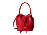 Dkny Tribeca Soft Tumbled Bucket W Drawstring And Det Shoulder Strap Red Drawstring Handbags