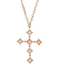 Stone Paris Divine 18Kt Rose Gold Necklace With Diamonds Pink