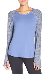 The North Face Women's 'Motivation' Baseball Tee Coastal Blue Cosmic Blue