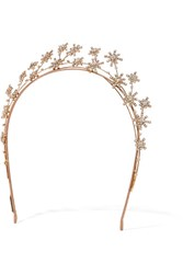 Jennifer Behr Starlight Gold Plated Swarovski Crystal Headband Rose Gold