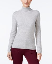 Charter Club Cashmere Turtleneck Sweater Only At Macy's 16 Colors Available Heather Crystal