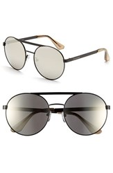Women's Isaac Mizrahi New York 56Mm Round Sunglasses Black
