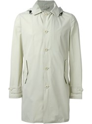 Aspesi Button Down Raincoat With Cuff Details Nude And Neutrals