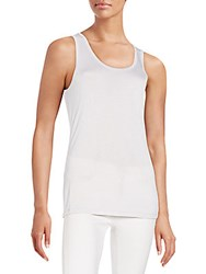 Xcvi Relaxed Fit Solid Tank White Cap