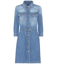7 For All Mankind Cotton Denim Dress Blue