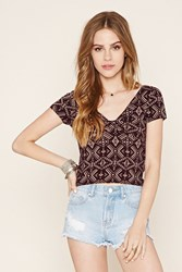 Forever 21 Tribal Print Crop Top