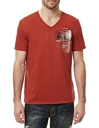 Buffalo David Bitton Charlie Narwaw Graphic Printed Tee Brick