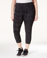 Styleandco. Style Co. Sport Plus Size Printed Active Capri Leggings Only At Macy's Deep Black