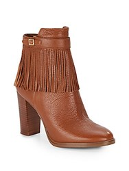 Ivanka Trump Preta Fringe Leather Boots Light Brown