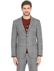 Salvatore Ferragamo Prince Of Wales Wool Jacket