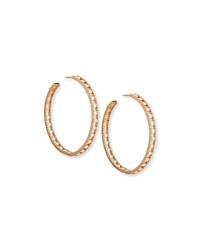 18K Rose Gold Diamond Hoop Earrings Staurino Fratelli