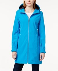 Calvin Klein Long Length Hooded Raincoat French Blue