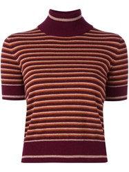 I'm Isola Marras Striped Shortsleeved Sweater Red
