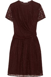 Carven Gathered Lace Dress