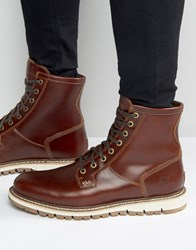 Timberland Britton Heel Lace Up Boots Brown