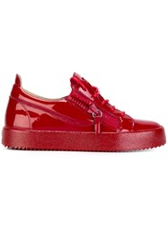Giuseppe Zanotti Design 'Jayce' Low Top Sneakers Red