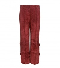 Edun Suede Trousers Red
