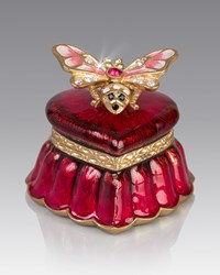 Jay Strongwater Bee Heart Box Red