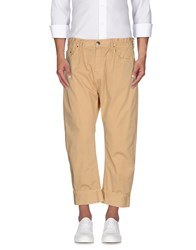 Les Hommes Trousers 3 4 Length Trousers Men Sand