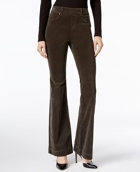 Inc International Concepts Corduroy Flare Leg Pants Only At Macy's Olive Drab