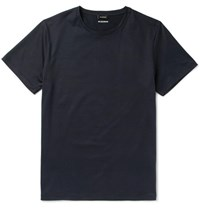 Jil Sander Ji Sim Fit Cotton Jersey T Shirt Midnight Bue Midnight Blue