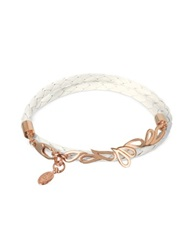 Sho London Mari Fiendship Rose Gold Plated And Leather Double Bracelet