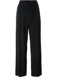 Alexander Mcqueen Fil Coupa Palazzo Pant Black