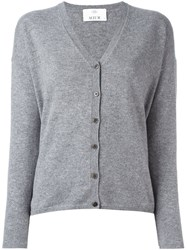 Allude Buttoned Cardigan Grey
