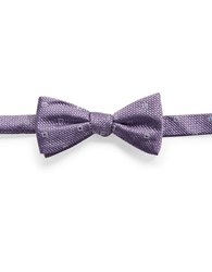 Vince Camuto Checkered Bow Tie Purple