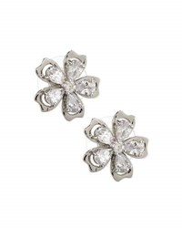 Fragments For Neiman Marcus Cz Flower Stud Earrings Silver