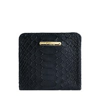 Graphic Image Mini Folding Wallet In Embossed Python Leather Multi