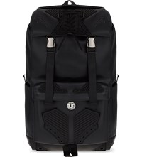 Ktz Lace Up Faux Leather Backpack Black