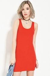 Forever 21 Bodycon Tank Dress Red
