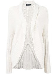 Twin Set Loose Fit Knit Cardigan Nude Neutrals