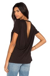 Chaser Cross Back Rolled Sleeve Tee Black