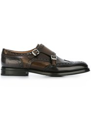 Church's Monk Strap Brogues Brown
