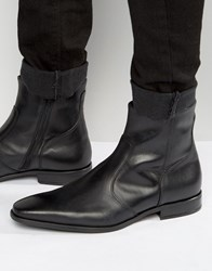 Kg By Kurt Geiger Boyce Leather Zip Boots Black