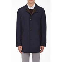 Kiton Men's Cashmere Silk Coat Navy