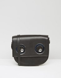 Monki Eyelet Detail Cross Body Bag Black