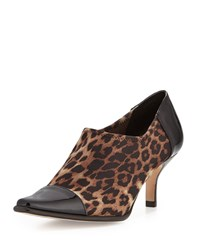 Levy Stretch Low Heel Bootie Camel Black Donald J Pliner
