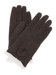 Isotoner Sherpa Sueded Glove Chocolate