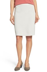 Women's Eileen Fisher Silk And Organic Cotton Knit Pencil Skirt Bone